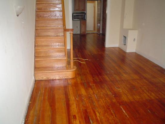 refinish pine floor after