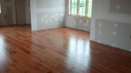 American Cherry Floor Installation and Finish