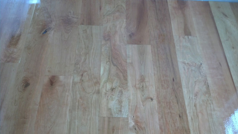 how to finish a sand hardwood floor