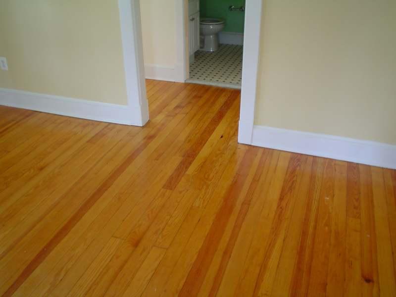 After Heart Of Pine Hallway Floor Repair